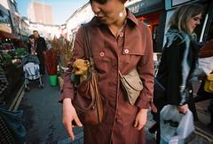 doggie bag (lomokev) Tags: portrait dog girl lady female person lomo brighton fuji wide wideangle fujireala human reala lomograph fujisuperiareala lcw deletetag shotonhscourse lcwide lomolcw lomolcwide file:name=120303lomolcareala00020 roll:name=120303lomolcareala