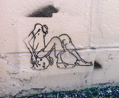 The Loser by Shel Silverstein (liquidnight) Tags: streetart illustration headless portland stencil poetry poem head seat loser pdx shelsilverstein ephemeralart