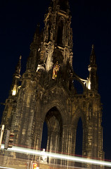 Edinburgh NIight (albinobobman) Tags: street city longexposure light urban monument statue night lights scotland streetlight edinburgh