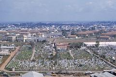 Saigon 1969 - Nghĩa trang Bắc Việt phía sau Bộ TTM - Đối diện qua cột cờ là Trung tâm Hành Quân (manhhai) Tags: 1969 saigon