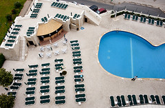 Germans are Staying at the Hotel (John Hallam Images) Tags: pool hotel beds german towels reserving bedpattern