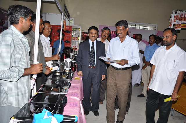 Mr VK SHANMUGAM, IAS, Erode District Collector visiting the stalls at Grand Expo 2012 in Erode.