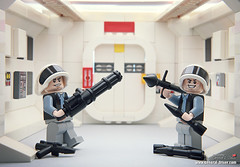 We are waiting for you, stormtrooper. (storm TK431) Tags: rebel starwars lego rpg minigun tative