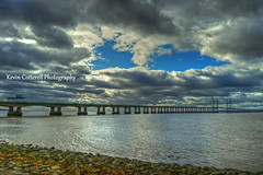 Severn Crossing Clouds (AreKev) Tags: uk bridge england sky clouds crossing severn riversevern hdr severnbeach secondseverncrossing southgloucestershire severnestuary photomatixpro panasonicdmctz3