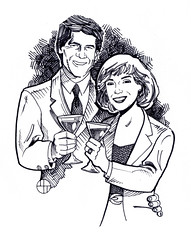 CARICATURE: ANDREW WALLEN AND THE MRS. (michaelthorner) Tags: toronto canada promotion illustration comics advertising marketing michael comic cartoon illustrations staff caricature illustrator mississauga promotional storyboard cartoons employee promotions morale boost storyboards caricatures thorner michaelthorner