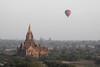 A Grand View (cormend) Tags: morning travel trees mist nature sunrise canon landscape temple eos dawn pagoda asia tour burma buddhist balloon tourist myanmar southeast bagan birmanie 50d cormend