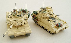 M1A1 Abrams and M2A2 Bradley (1) (Mad physicist) Tags: tank lego military bradley abrams usarmy m1a1 m2a2