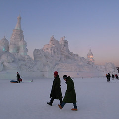 Ice Festival ( ken ) Tags: china winter sculpture castle festival  ricoh harbin    sahaliyanula grd2