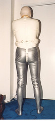 Latex straight jacket (latextexsafe) Tags: uniform boots rubber latex corset straightjacket vacuumbag rebreathing