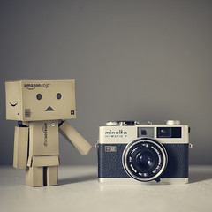 Another old camera? (Morphicx) Tags: camera new old tattoo vintage cool nice minolta vanilla reference softtones danbo minoltahimaticf