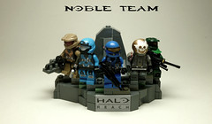 Lego Halo Noble Team statue (Commander Hess) Tags: statue team kat lego halo jorge carter reach emile jun noble