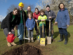 Transition Town Reading nut tree planting in Palmer Park (Reading and Wokingham Green Party) Tags: reading treeplanting palmerpark bctv transitiontowns
