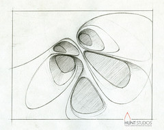 """Flow"" concept drawing. (huntstonecarving) Tags: tile stonecarving stonetile tiledesign handcarvedtile 3dtile sculpturaltile"