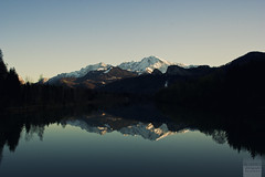 (desomnis) Tags: blue trees mountain lake snow mountains reflection salzburg wet water canon river eos 350d spring peak bluesky alp canoneos350d eos350d waterreflection 18mm noclouds desomnis