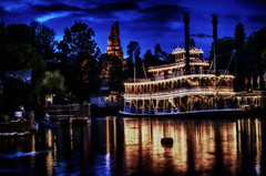 The Nightlife Of Mark Twain (hbmike2000) Tags: night lights nikon disneyland disney riverboat steamboat d200 hdr marktwain frontierland hss riversofamerica sliderssunday hbmike2000