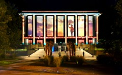 The National Library (evangelique) Tags: portrait color colour architecture buildings lights gallery library surreal nationalgallery projection national canberra act nationallibrary enlighten electriccanvas enlightenfestival