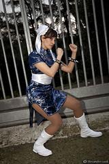 Sara as Chun-Li from Street Fighters (Alessandro Guidi 1985) Tags: hot roma sexy girl comics li legs cosplay shampoo chun cosplayer 2012 chunli alessandro guidi romacomics