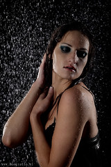 Shower (Reografie) Tags: woman sexy wet water girl studio drops model skin nat workshop watershoot druppels studioshoot nibbie reografie