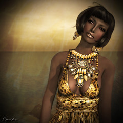 Tribal (Ruriko Bracken) Tags: fashion blog sl gown ffl