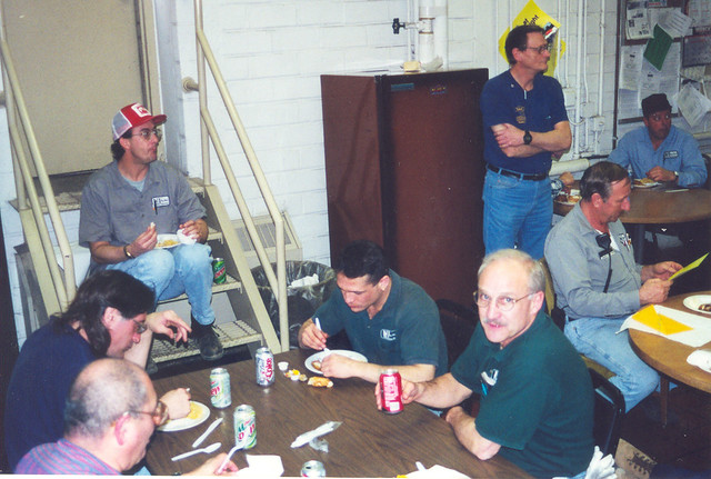 Larry Swaney at right, Rich Hormel, Jason Goss, Phil Goss, Dan, Jerry & Butch