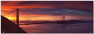 The Glow at the Golden Gate Bridge Panorama, San Francisco, CA