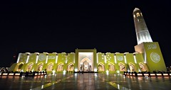 Doha State Mosque (Sanjiban2011) Tags: architecture night islam mosque islamic doha qatar