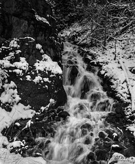 Sylvan Pass run off (chasingthewildoutdoors) Tags: blackandwhite snow nature water beauty canon landscape outdoors waterfall rocks springtime yellowstonepark