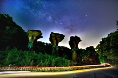 ~~ Milkyway above Ruins of Long-teng Bridge (Shangfu Dai) Tags: landscape nikon taiwan galaxy formosa  miaoli    milkyway    miaolicounty    d800e