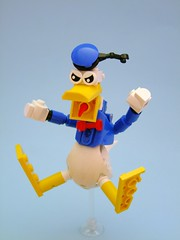 Donald (Djokson) Tags: blue red white yellow toy duck lego cartoon disney donald figure moc djokson