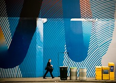 Mixed Paper (petertandlund) Tags: city nyc people urban newyork color streetphotography streetscene xe1 fujix