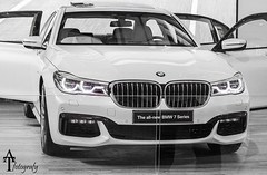 THE NEW 7! (ATFotografy) Tags: 2 white black car sedan canon germany eos lounge 7 super front grill made seven saudi arabia bmw and series dslr kidney riyadh luxury in 2016 600d atfotografy sevencarlounge