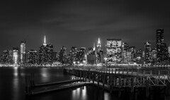 """The city of Glory"" (Mahir Rafi) Tags: nyc longexposure light urban ny building night pier cityscape waterfront nightscape longisland queens lightexposure"