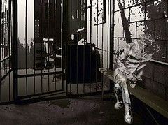 Ghost jail (francis_erevan) Tags: photoshop ghost prison montage jail fantme