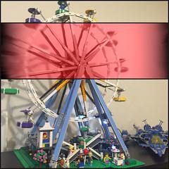 Lego 10247 - Ferris Wheel (Moro972) Tags: 6 rose lego rosa ferriswheel benny spaceship effect iphone 2016 ruotapanoramica 21026 70816 10247