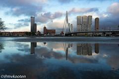Rotterdam (@mvkooten) Tags: bridge holland reflection architecture reflections rotterdam erasmus van kop architectuur erasmusbrug zuid weerspiegeling reflectie rdam wilhelminapier
