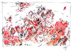 Wolfram Zimmer: Pompeii (ein_quadratmeter) Tags: voyage trip travel holiday train pencil painting sketch view drawing kunst brush exhibition dessin peinture exhibitions study pompeii naples colored freiburg zugfahrt landschaft ferien bleistift studienfahrt ausblick ausstellung reise landscap neapel pompeji zeichnung kirchzarten malerei bleistiftzeichnung pinsel meinzimmer skizze konzeptkunst ausstellungen objektkunst farbstiftzeichnung burgbirkenhof wolframzimmer reisezeichnung