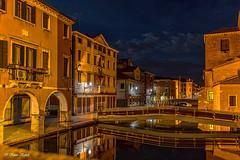 Chioggia - 14051424 (Klaus Kehrls) Tags: architektur spiegelung nachtaufnahme chioggia brcken kanle ithalien