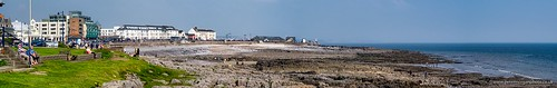 Porthcawl seafront Bank Holiday Weekend Panorama