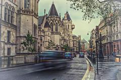 (Paul B0udreau) Tags: auto street uk england london cars rain tripod motors motionblur royalcourtsofjustice