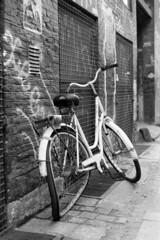 Bicycle senility in Copenhagen (Analog World Thru My Lenses) Tags: nikonfa nikkor50f18d rolleirpx100 copenhagen april 2016