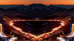 IMG_0492-M (JIMI_lin) Tags: sunset snow mirror taiwan        hehuanmountain