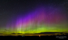 Color in the Sky (Greg Lundgren Photography) Tags: green nature wisconsin night landscape outdoors purple magenta aurora nightsky northernlights auroraborealis
