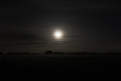 At night we Are afraid. (Floyd the Photographer) Tags: cloud moon mist field fog night clouds canon dark landscape focus exposure dream nighttime dreams fields nightlife solace 7dmkii 7dmark2