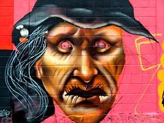Grafite - So Paulo - Brasil (Flatismento) Tags: pink brazil streetart art brasil grafitti saopaulo witch sopaulo rosa sampa grafite bruxa artederua centrodesopaulo