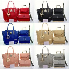 Import @290 Bag Victoria B 1228 3in1 29x16x26cm Kulit #Parfume#SemiPremium#Black#Blue#Red#Babypink#Grey#Apricot (merboutique) Tags: blue red black grey apricot parfume babypink semipremium