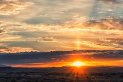 The Rise (inlightful) Tags: morning sunset summer sky sun hot newmexico southwest sol sunshine clouds sunrise dawn evening solar cloudy dusk sunny heat rays sunrays sunbeams