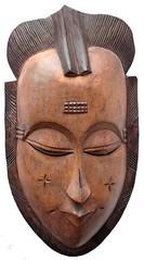 10Y_0901 (Kachile) Tags: art mask african tribal ctedivoire primitive ivorycoast gouro baoul nativebaoulmasksaremainlyanthropomorphicmeaningtheydepicthumanfacestypicallytheyarenarrowandfemininelookingincomparisontomasksofotherethnicitiesoftenfeaturenohairatallbaoulfacemasksaremostlyadornedwithvarioustrad