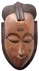 10Y_0901 (Kachile) Tags: art mask african tribal côtedivoire primitive ivorycoast gouro baoulé nativebaoulémasksaremainlyanthropomorphicmeaningtheydepicthumanfacestypicallytheyarenarrowandfemininelookingincomparisontomasksofotherethnicitiesoftenfeaturenohairatallbaouléfacemasksaremostlyadornedwithvarioustrad