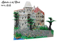Suburbs of city Divell ('LL') Tags: city tree tower castle classic landscape town rocks medieval cc suburbs ll moc lolino divell