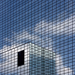 north side story (brancolina) Tags: reflection window architecture clouds photography rotterdam play view interplay nn lotsofthem blackwindow facadedetail brancolina strangewhitespots